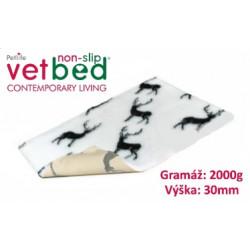 Vetbed protiskluz-Drybed bílá Jeleni 150x100cm 2000g,30mm